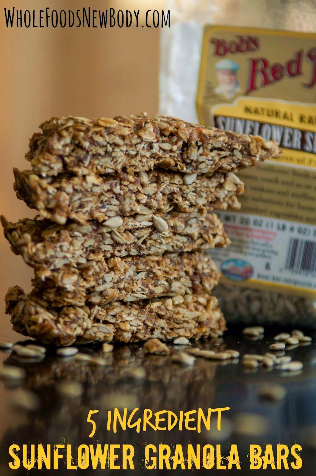 5 ingredient sunflower granola bar whole food recipes