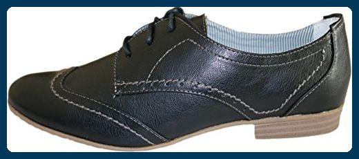 Schwarze Tamaris Schnürschuhe für Damen | Weiblichkeit mit