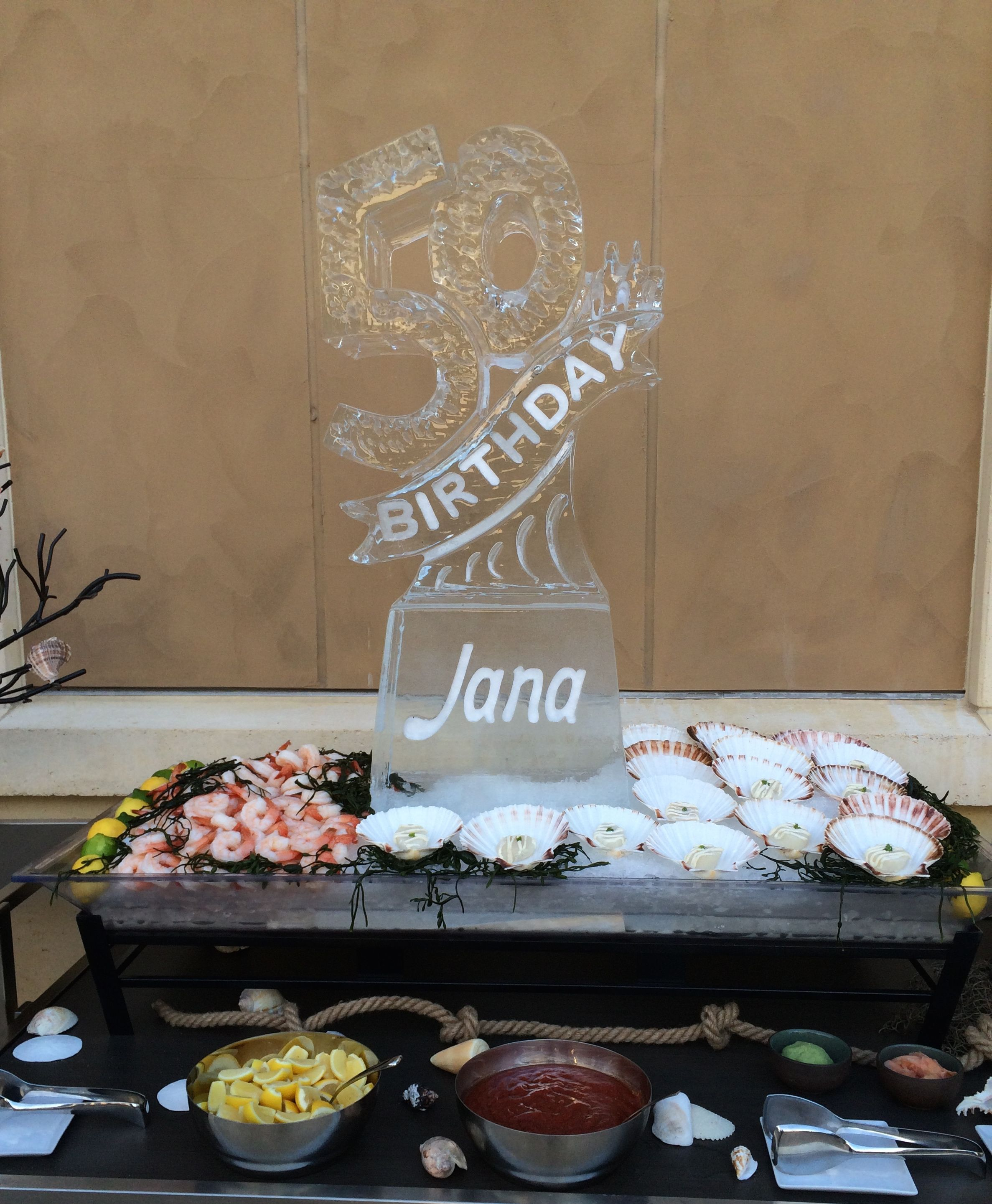 A 50th Birthday Ice Sculpture For A Party. #icesculptures