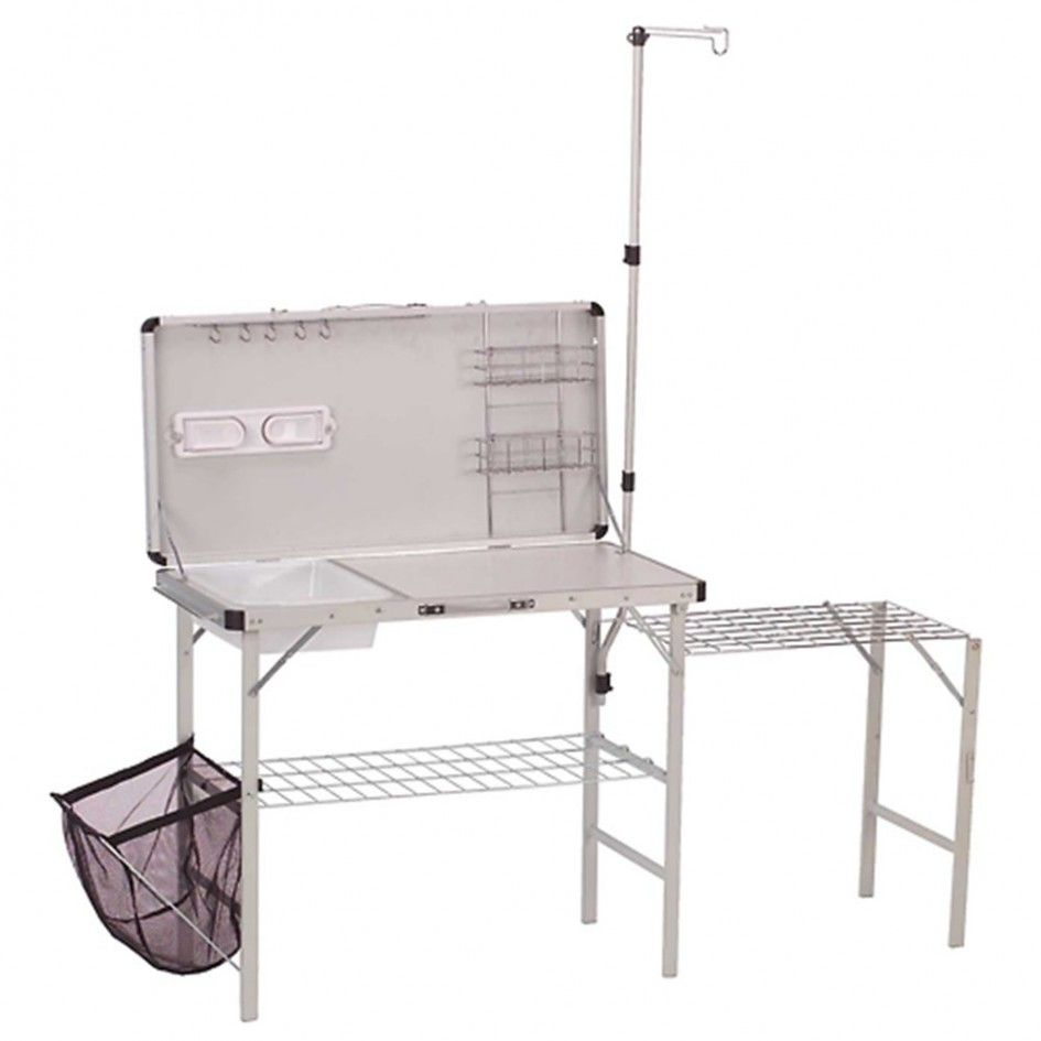 Coleman fish cleaning table re camping sink - You Ll Literally Take The Kitchen Sink And The Rest Of The Tools That Make Cooking More Fun When You Add A Coleman Pack Away Deluxe Camp Kitchen To Your
