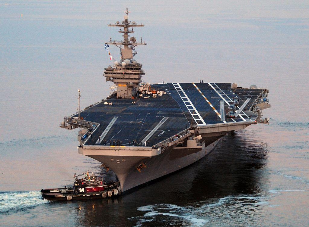 USS George H.W. Bush departs Norfolk on maiden deployment   Flickr - Photo Sharing!