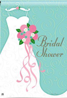 bridal shower outdoor flag | Bridal Shower Flag m35511