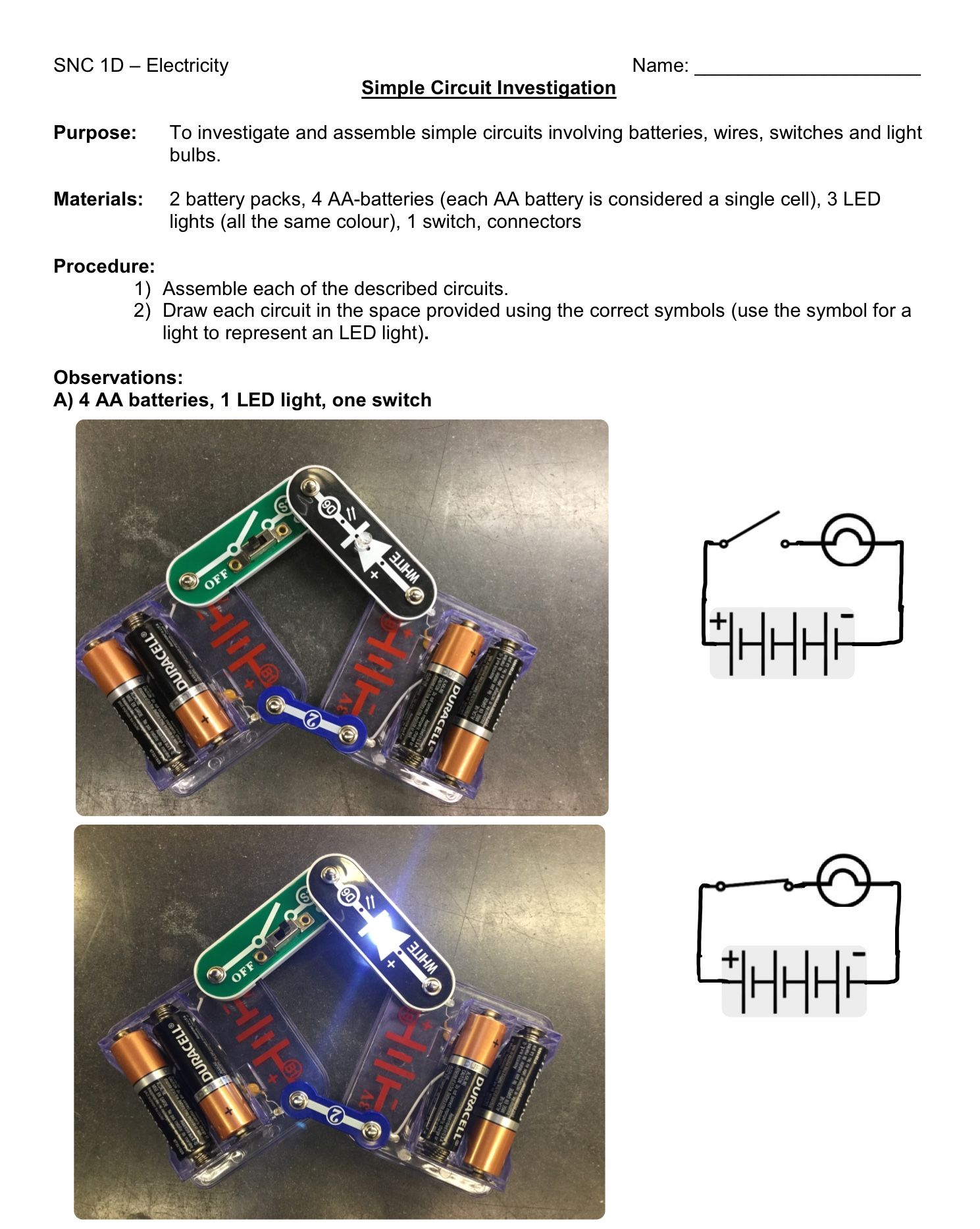 Simple Circuit Investigation