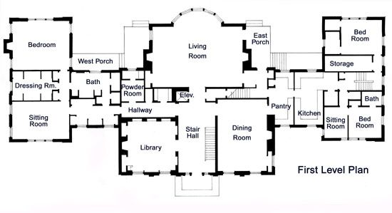 Mansion floor plan using as reference