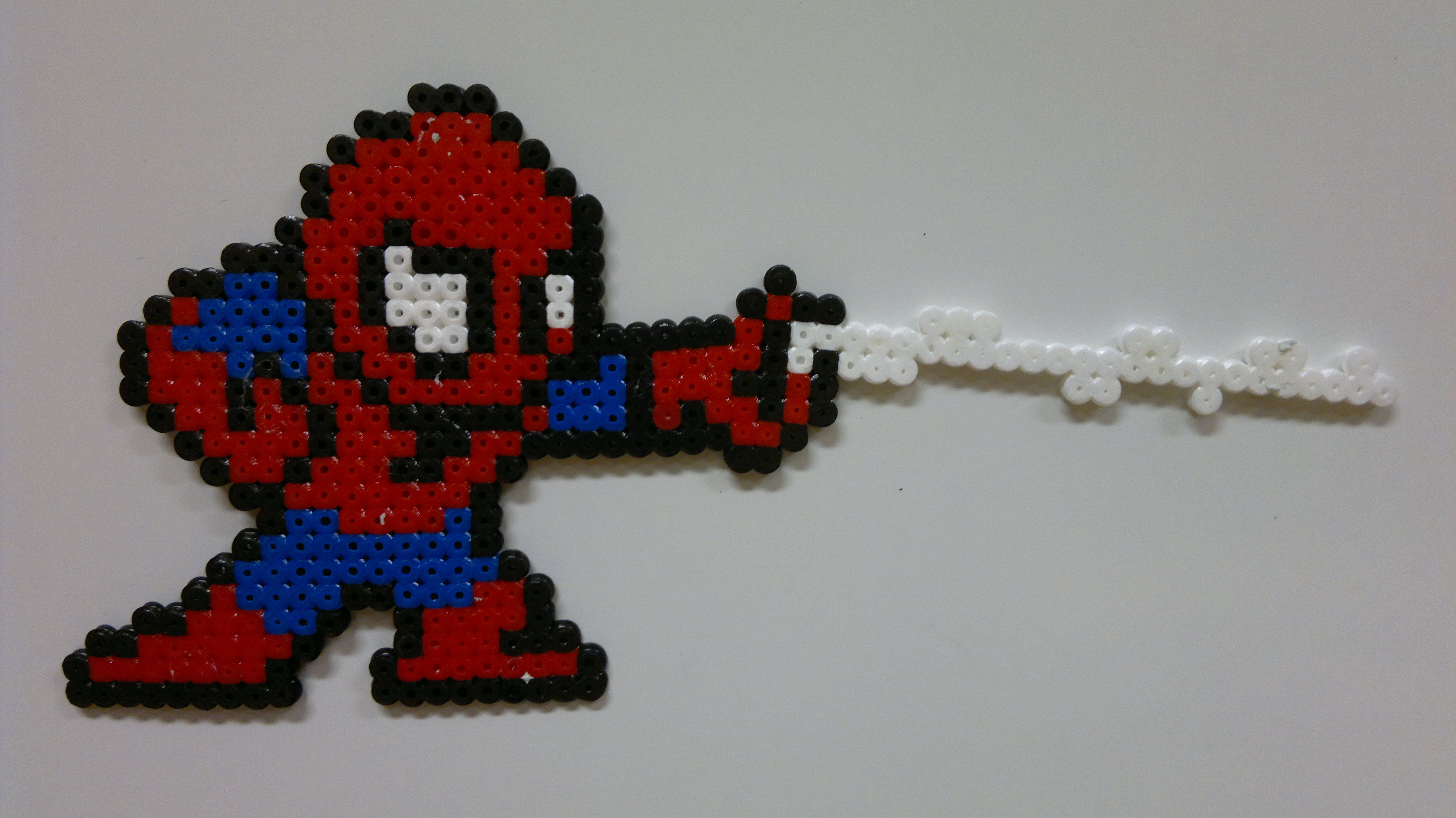 Hama Beads Spiderman: Spider-Man, Perler