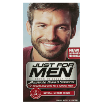 Just For Men Brush In Colour Gel Med Brown (M35) Facial Hair Colour ...