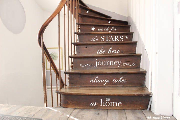 Treppenstufen aufkleber tattoo flur diele treppenhaus von home sweet home treppe - Treppenaufgang dekorieren ...