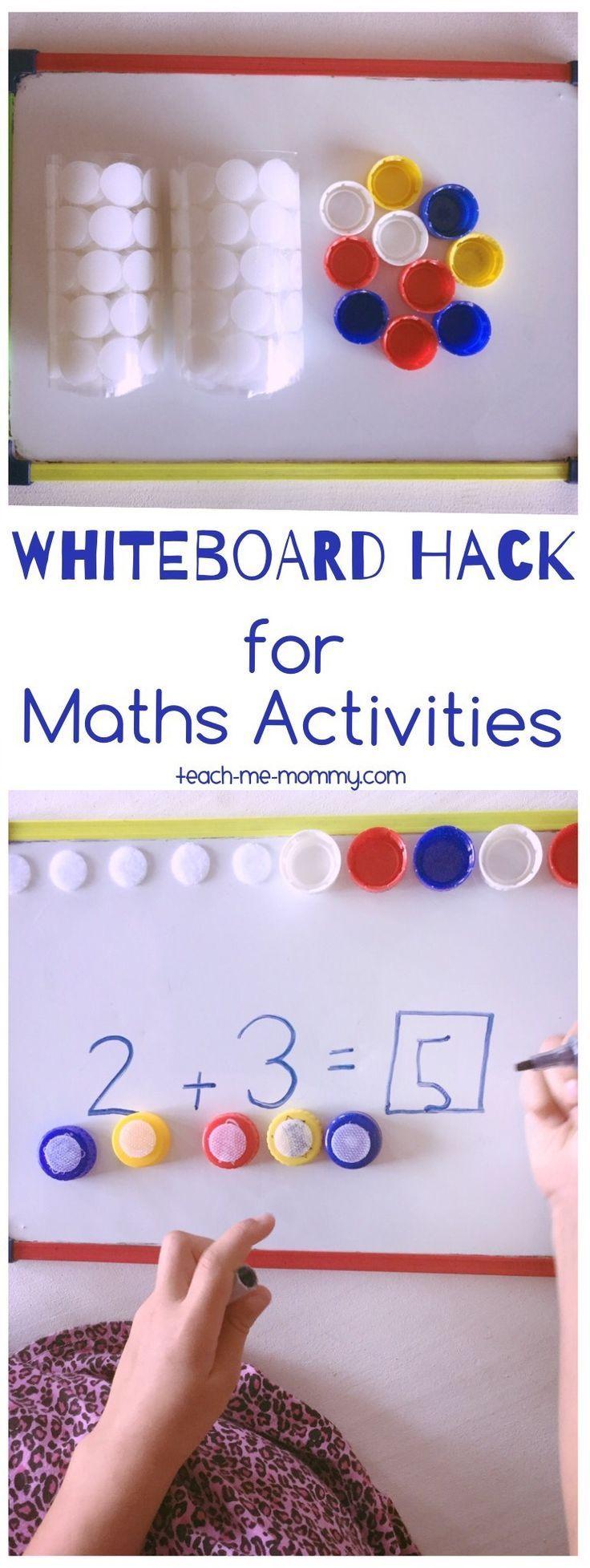Whiteboard Hack For Maths Activities Teach Me Mommy Math Activities Elementary Activities Math [ 1955 x 736 Pixel ]