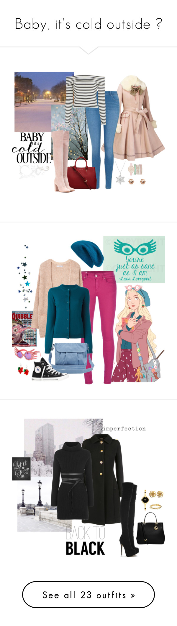 """""""Baby, it's cold outside ❤"""" by crimsonday on Polyvore featuring moda, George, 10 Crosby Derek Lam, MICHAEL Michael Kors, Gianvito Rossi, Jessica Carlyle, River Island, WALL, Luna e Dondup"""