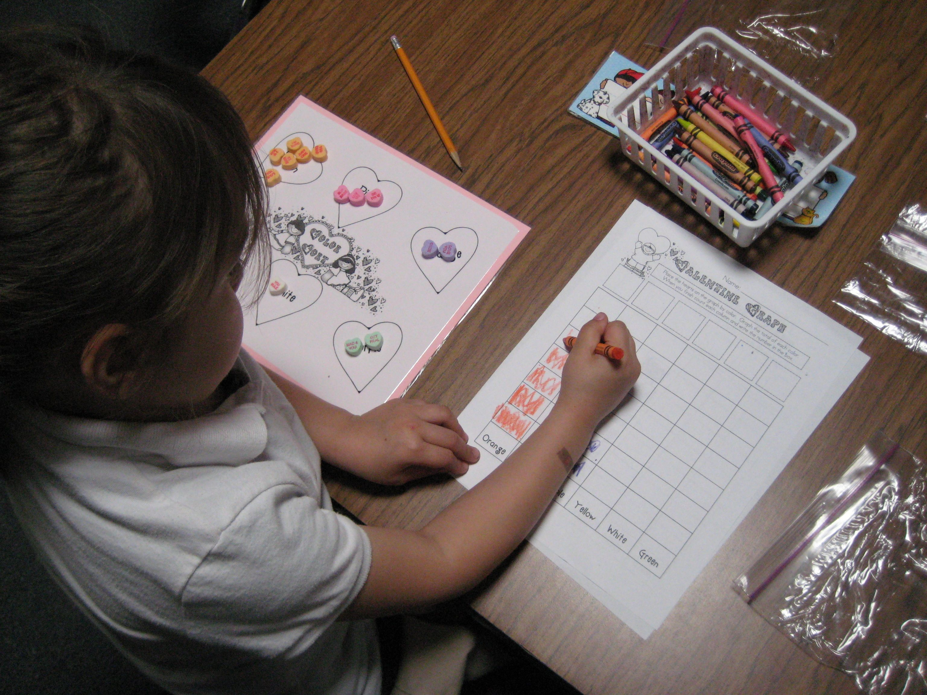 Valentine Heart Sorting And Graphing