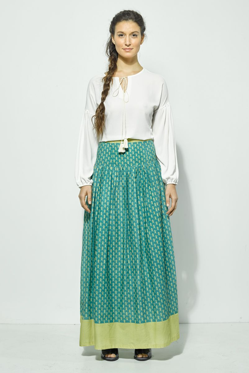 f352d4fa8 Falda Tiffanys: Falda larga, vaporosa y #hippie. Falda bicolor que ...