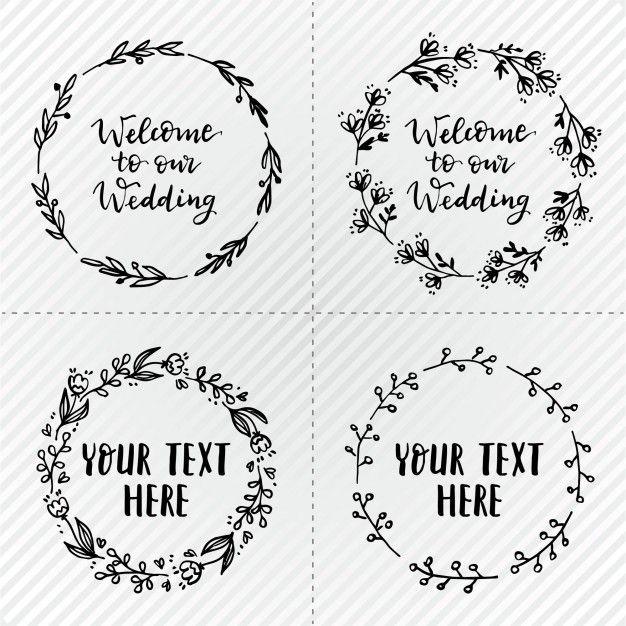 Grinaldas de casamento simples | Hochzeitskränze, Kostenlos und Schrift