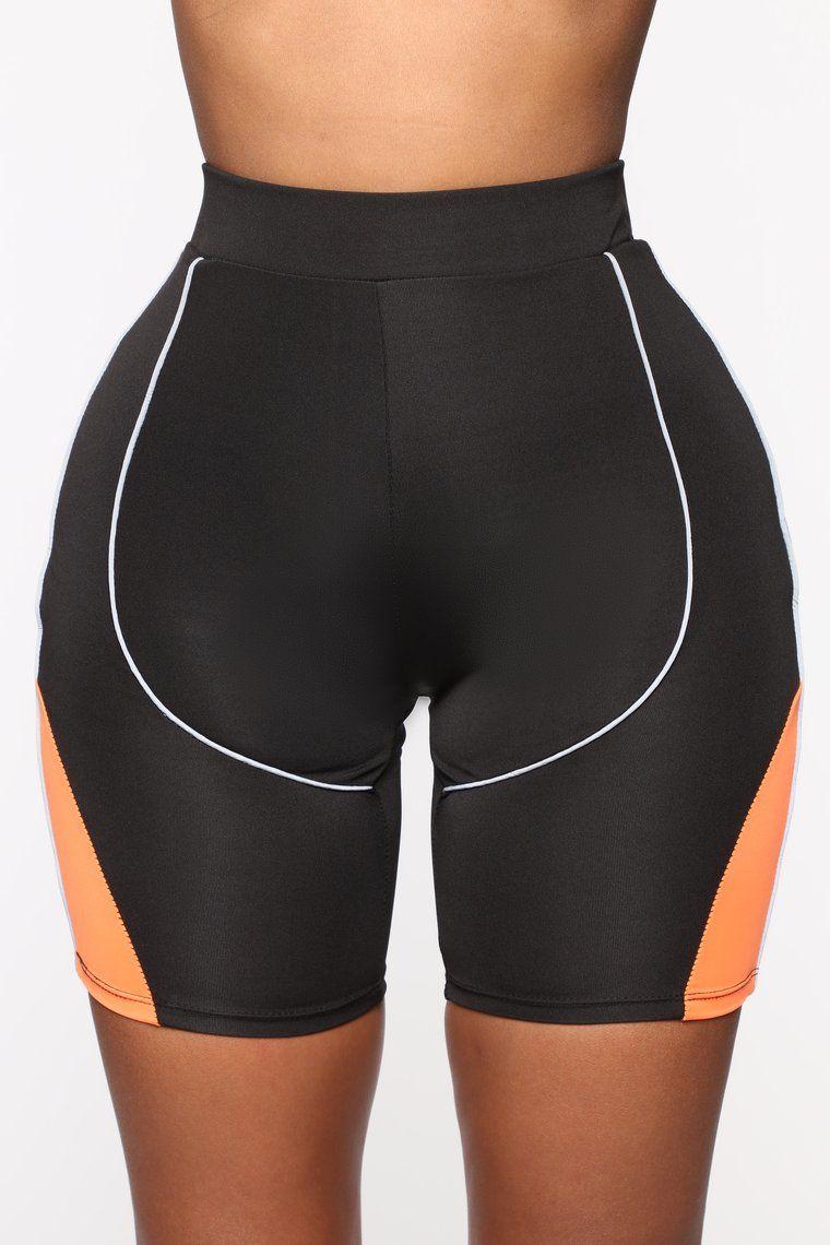 Stay Together Biker Shorts Neon Orange Biker shorts
