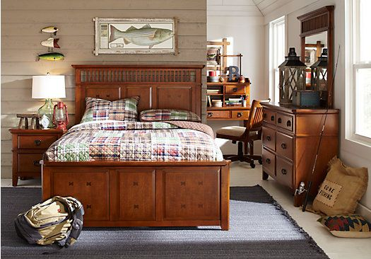 Shop For A Mission Oak 5 Pc Twin Panel Bedroom At Rooms To Go Kids. Find  That Will Look Great In Your Home And Complement The Rest Of Your Furniture.