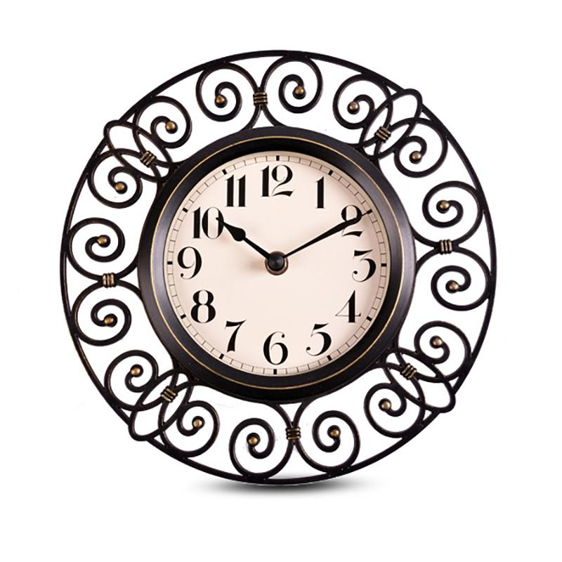 Iron Style Curls Wall Clock Unique Wall Clocks Clock Wall Decor Wall Clock