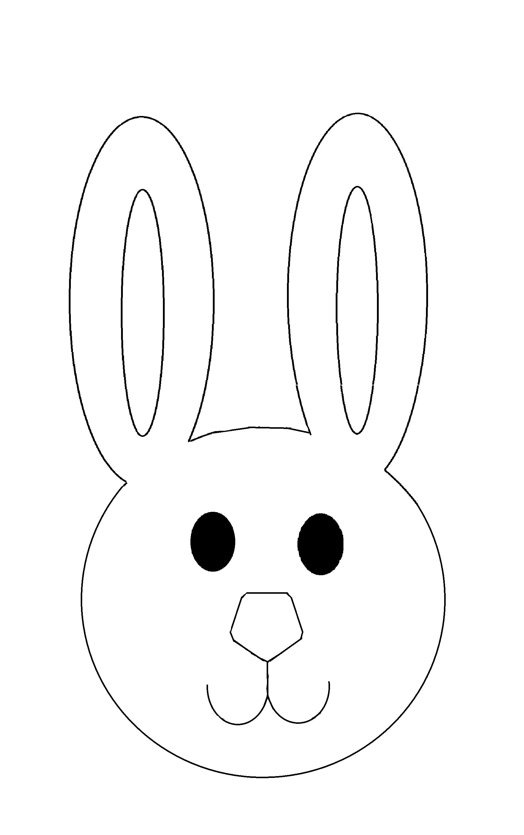 Bunny Head Outline Printable Easter Bunny Cutout 20cm Code