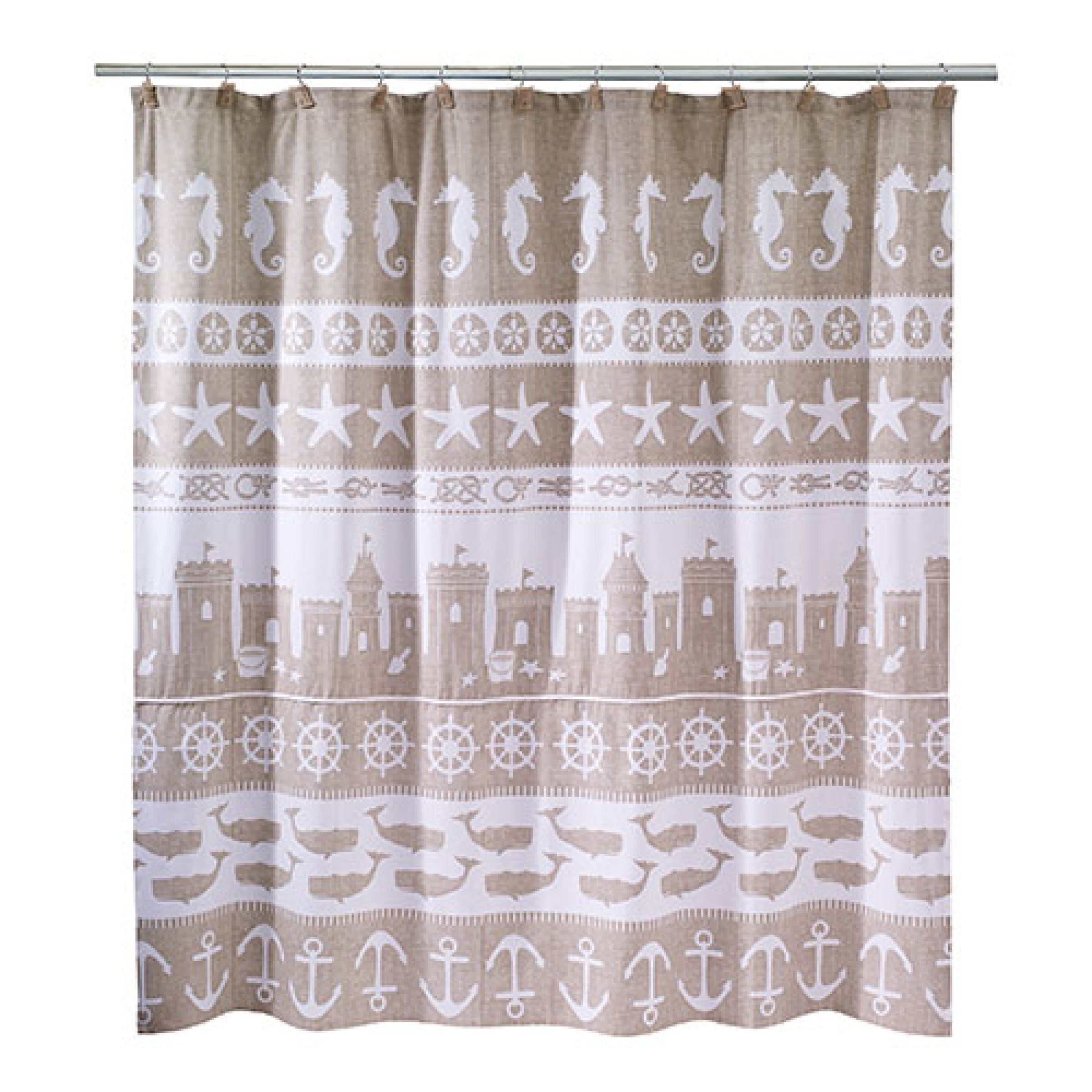 Boscov's Shower Curtains Avanti Sea And Sand Shower Curtain Hooks Boscov S Home