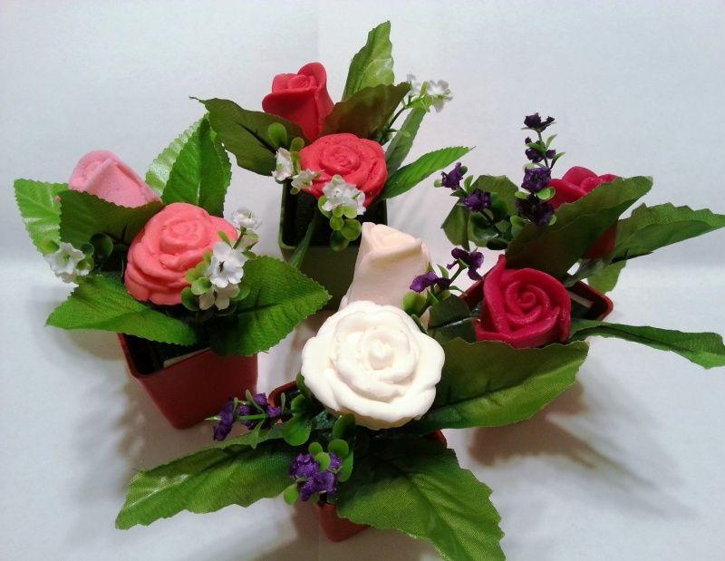 Decorative Soap Flowers - 2 Flowers