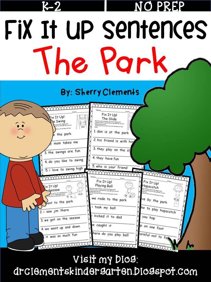 The Park Fix It Up Sentences