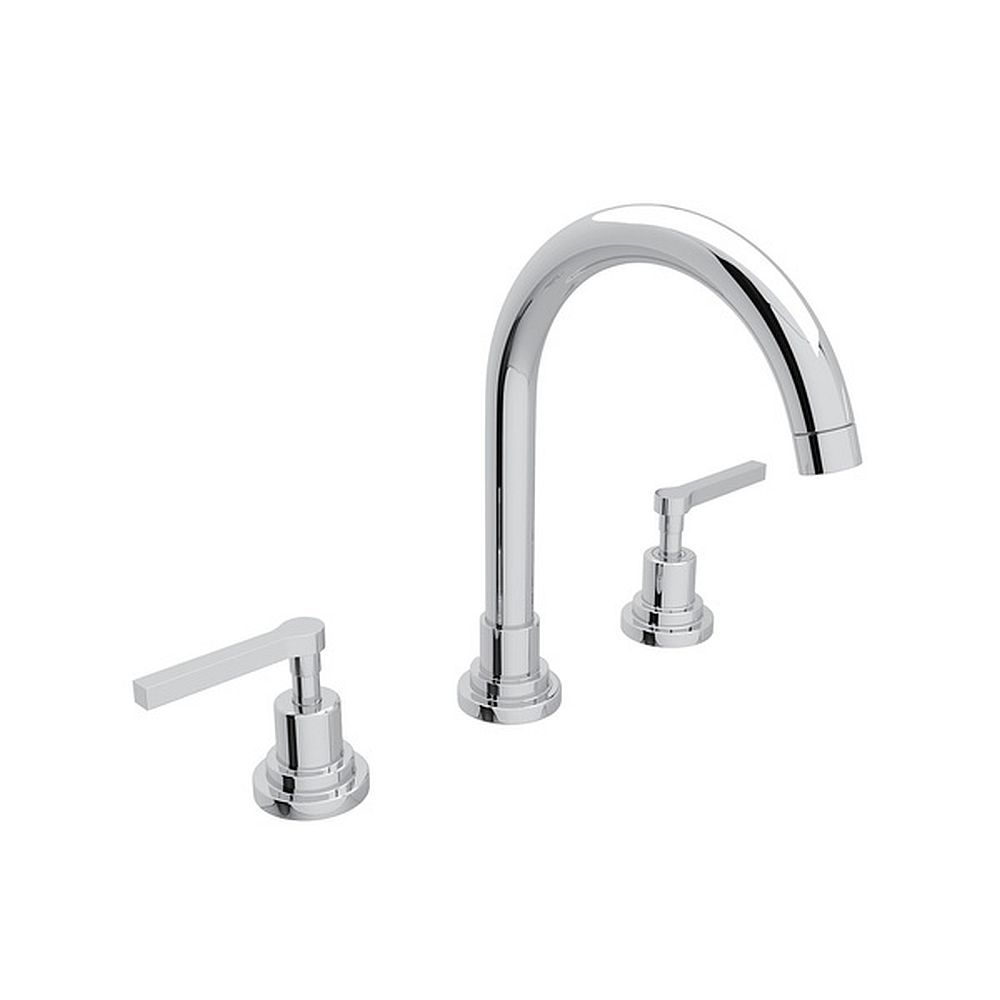 Photo of Rohl Lombardia 1.2 GPM Deck Mounted Lavatory Faucet in Polished Chrome