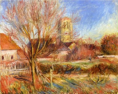The Church At Essoyes Pierre Auguste Renoir Essoyes Pinterest