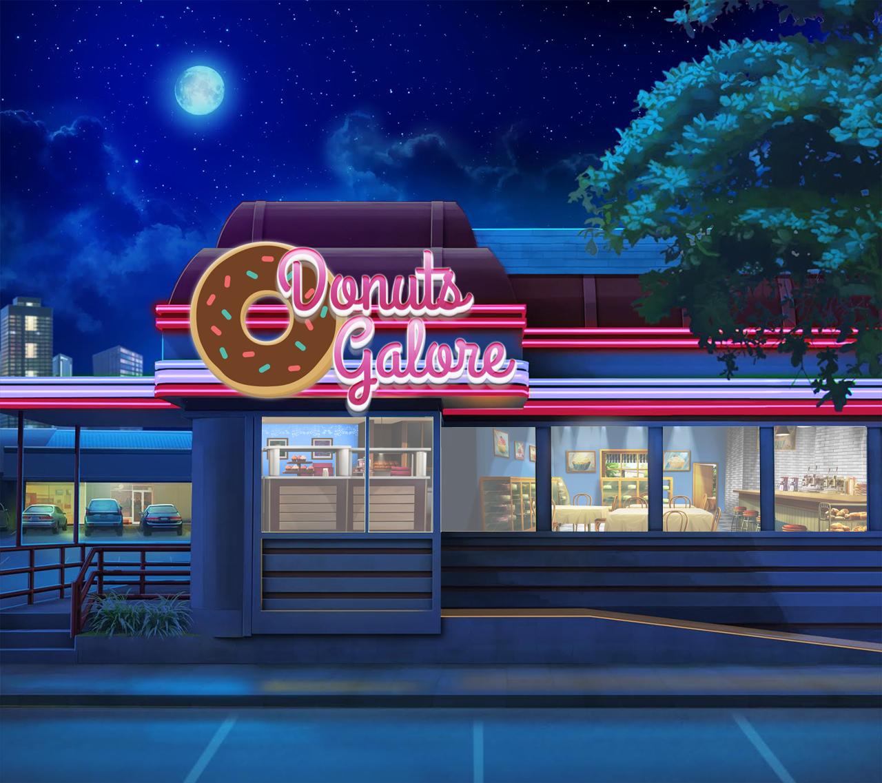 Donut Store Cenario Anime Fundo Do Jogo Fundo Para Video