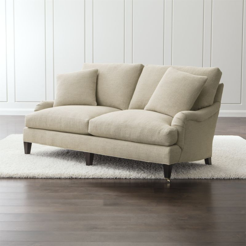 Charming Essex Apartment Sofa With Casters Ruffin: Natural | Crate And Barrel