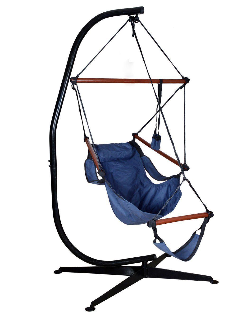 Algrenon Solid C Frame Metal Hammock Chair Stand | Hammock chair ...