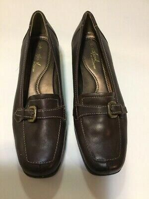Natural Soul Naturalizer SZ 6M Brown MERINA Leather Slip On Loafers Low Heel ebay link