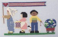 Fourth of July Marching Cross Stitch | FaveCrafts.com