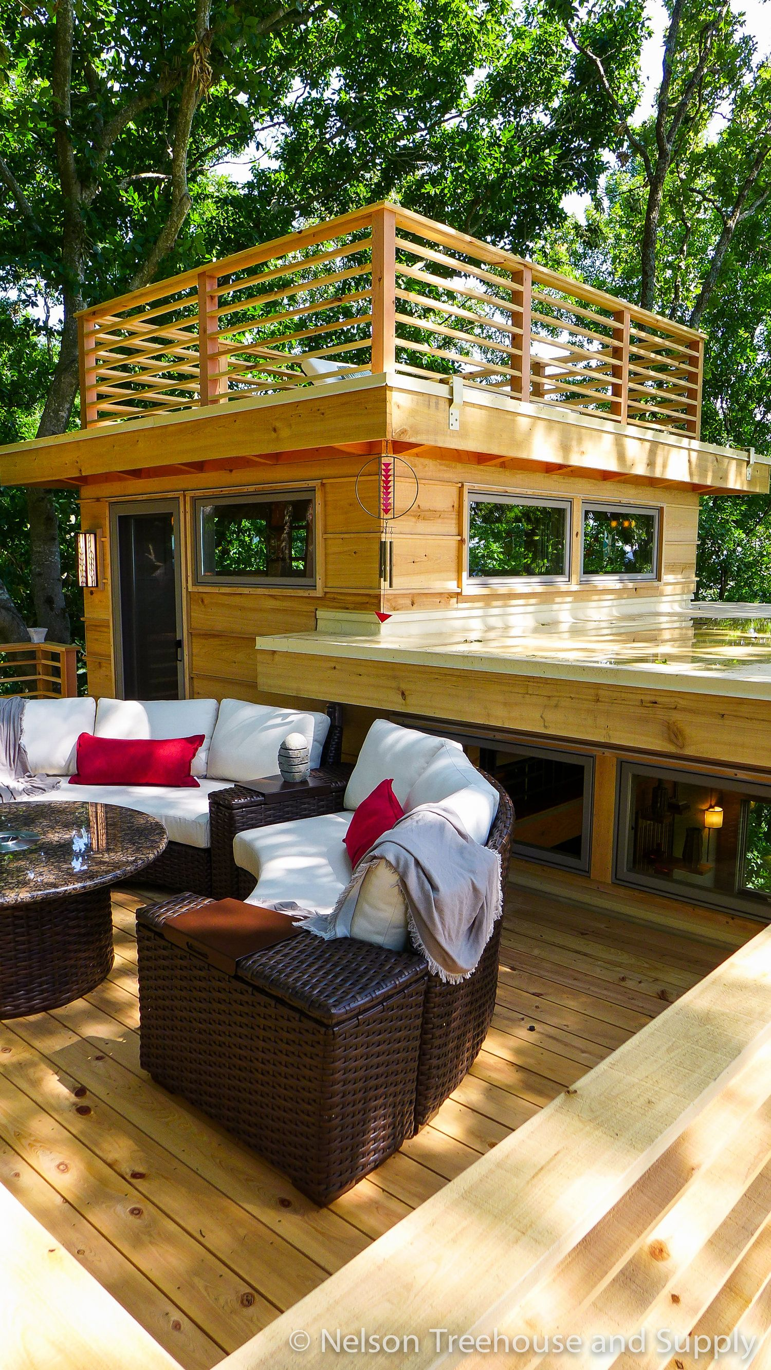 frank-lloyd-wright-treehouse-sun-roof | Tree house | Pinterest