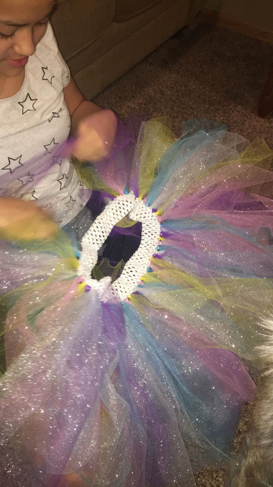 Custom My Design Assistant my assistant making avery's custom tutu! mi asistente