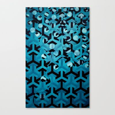 Turquoise Rising  Stretched Canvas by Lateefa Spiker - $85.00