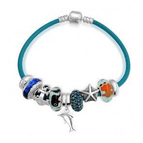 Bling Jewelry Anchor Away Nautical Sea Ocean Dangle Charm Bracelet