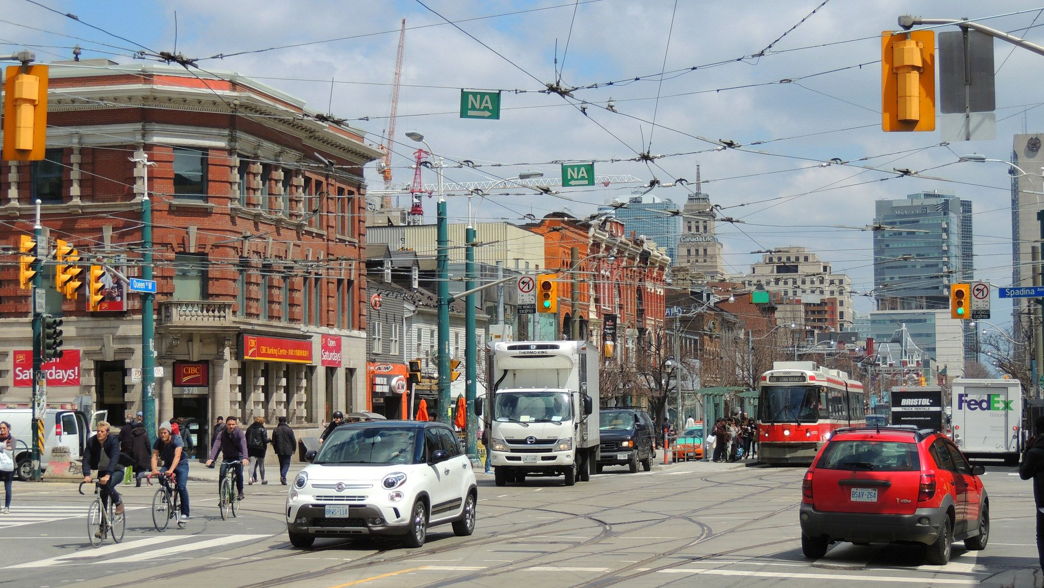 .... Queen Street West describes both the western branch of Queen Street, a major east-west thoroughfare, and a series of neighbourhoods or commercial districts, situated west of Yonge Street in downtown Toronto, Ontario, Canada.