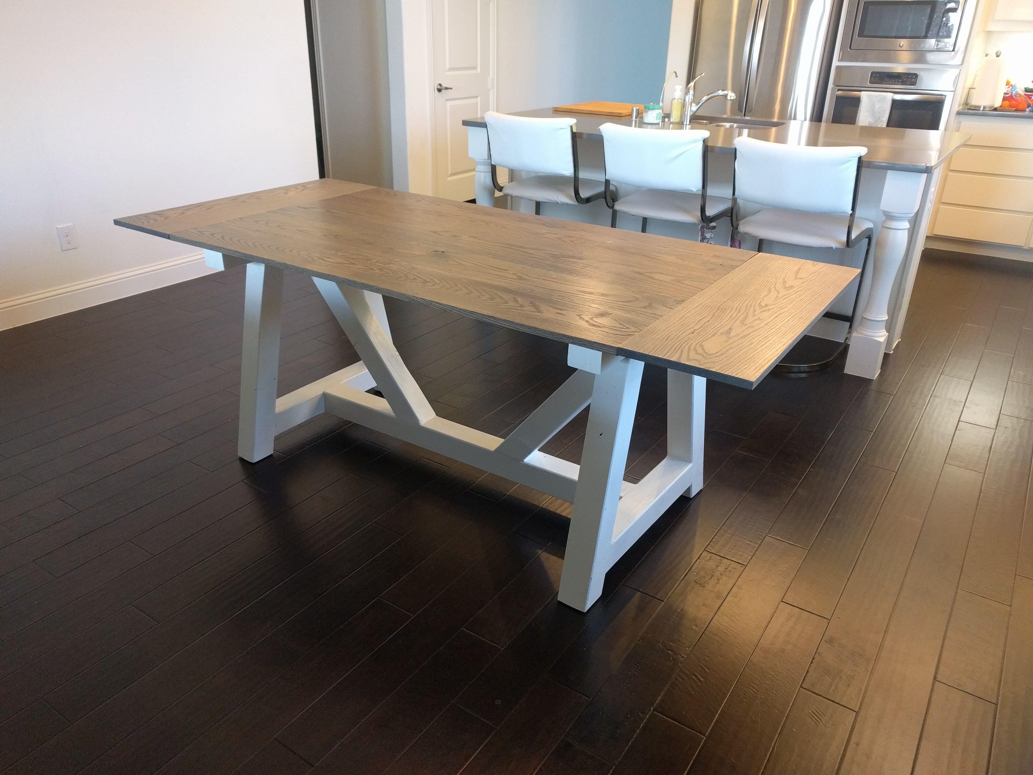 Diy extendable farmhouse table diy dining table dining