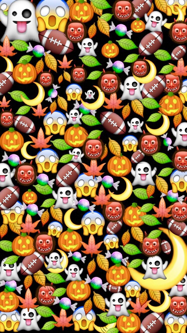 Halloween emoji wallpaper