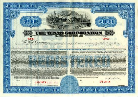 Texas Corporation ( Changed name to Texaco ) - Delaware 1940