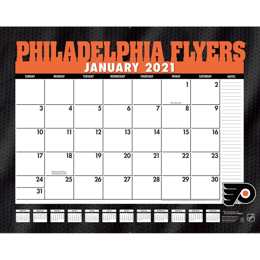Philadelphia Flyers 2021 Calendar Stay Organized While Showing Your Support For The Philadelphia Flyers With This Large Sca Philadelphia Flyers Calendar Flyer