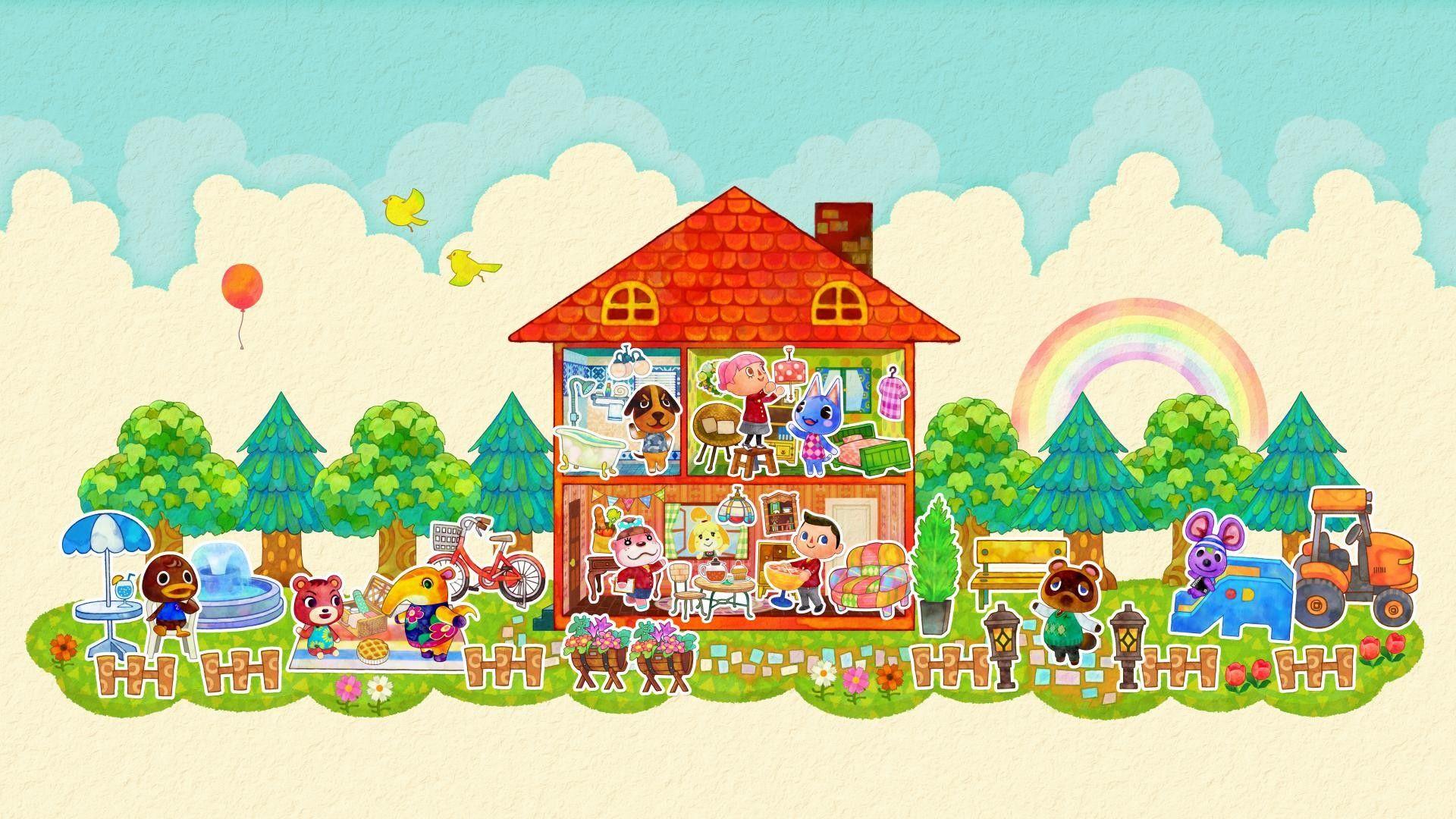 Animal Crossing Wallpaper Hd Animal Crossing Happy Home Designer Minimalist Animal