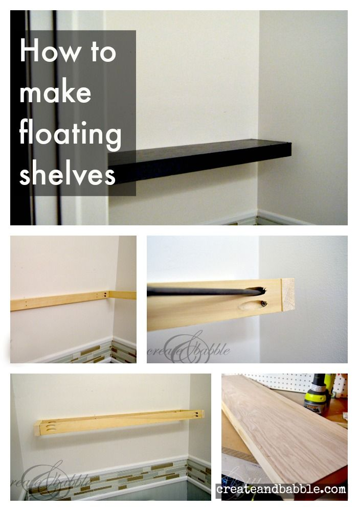how to make floating shelves shelves tutorials and easy rh pinterest com how does floating shelves work floating shelves how do they work