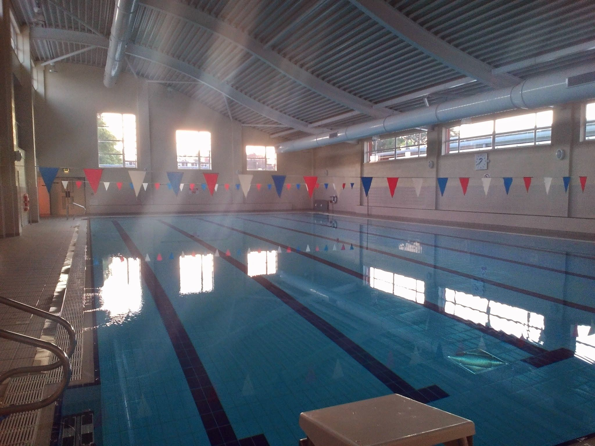 This is the swimming pool at Sutton Valence School, and one of the ...