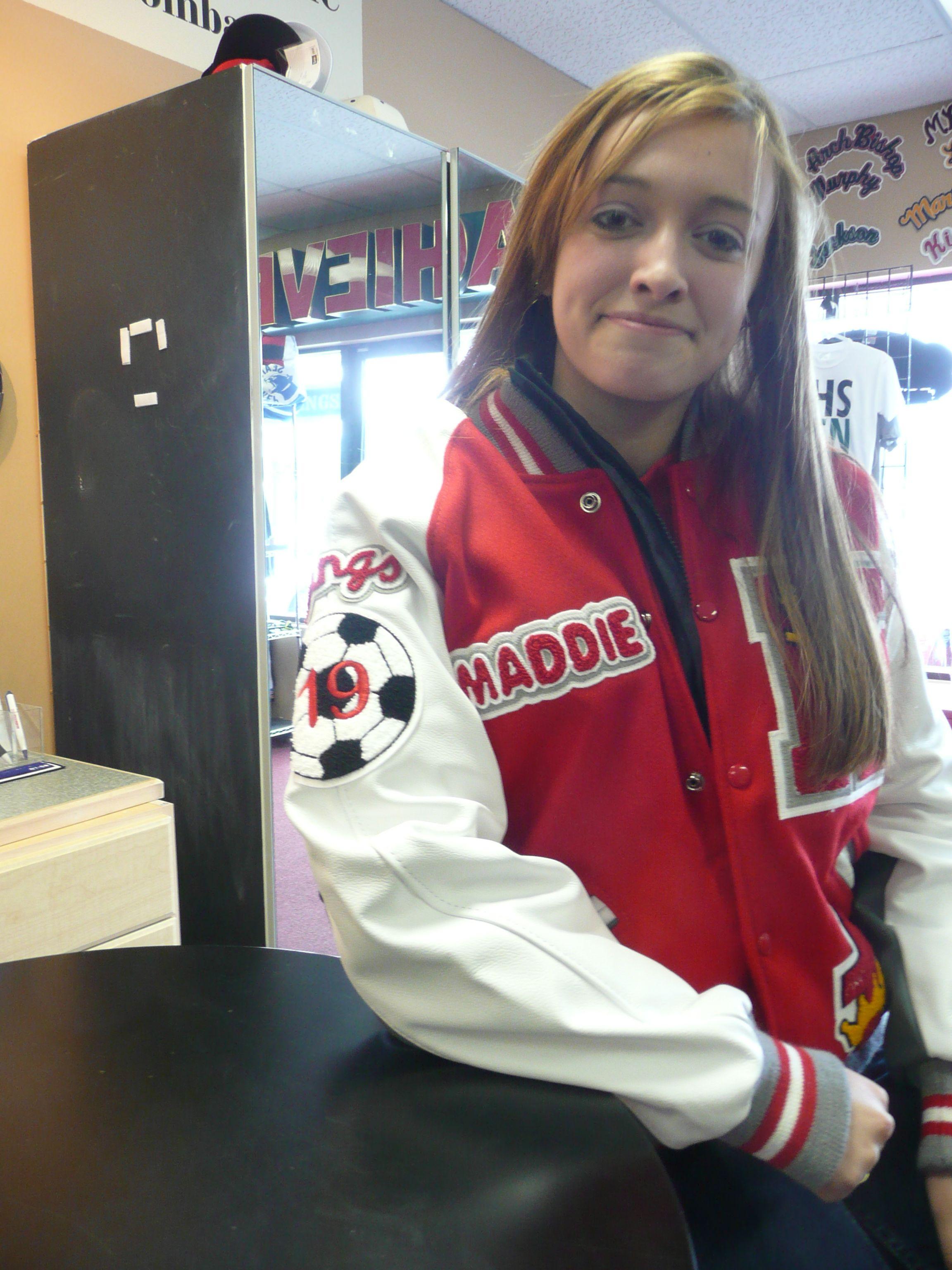 Girls Red Varsity Jacket Kings Soccer Jackets Letterman Jacket Ideas Lettermen