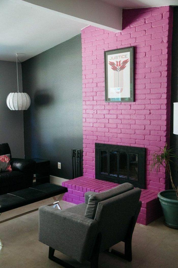 1001 ideas sobre colores para salones y c mo pintar la for Salones pintados en gris