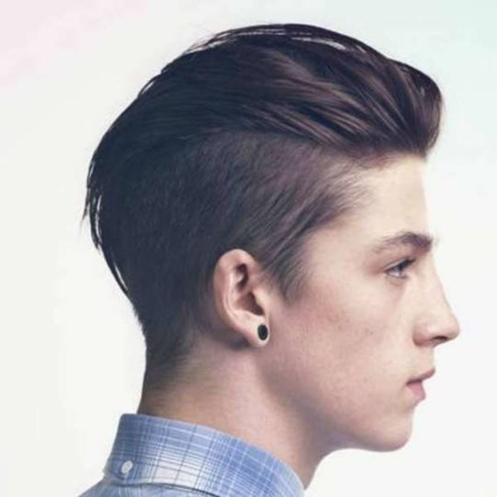mens long hairstyles back view ideas  Gaya rambut sedang, Gaya