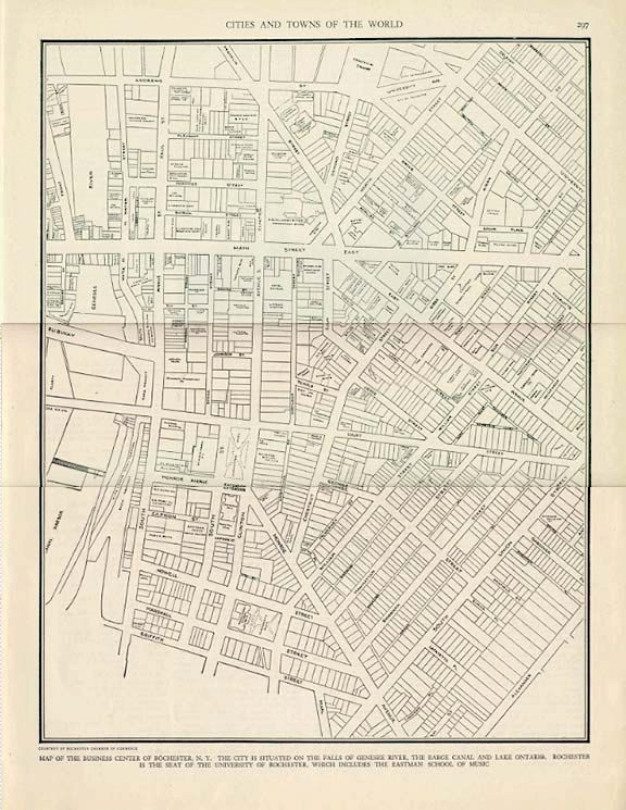 Rochester ny city map 1935 vintage colliers world atlas and rochester ny city map 1935 vintage colliers world atlas and gazetteer book page gumiabroncs Images