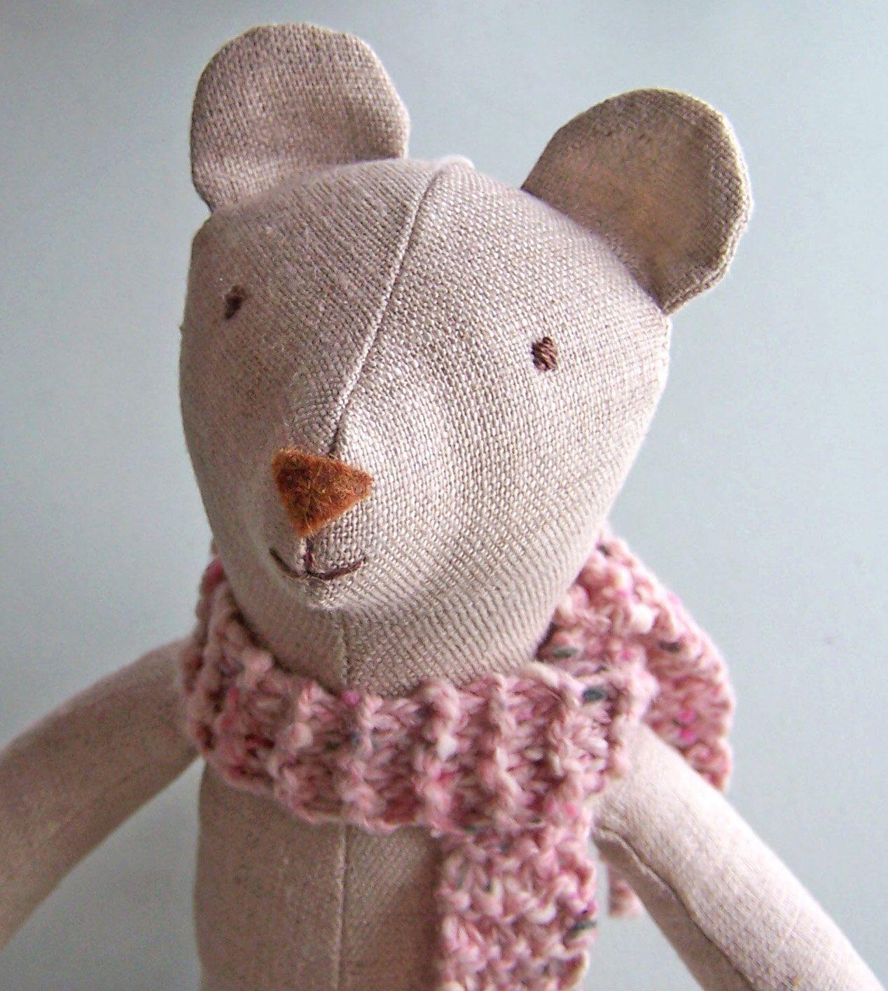Stuffed Animal PDF sewing pattern, teddy bear, stuffed toy, linen ...