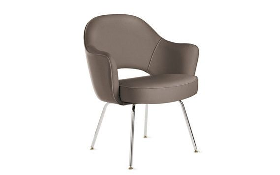 Design Within Reach Saarinen Executive Armchair with Metal Legs - Leat