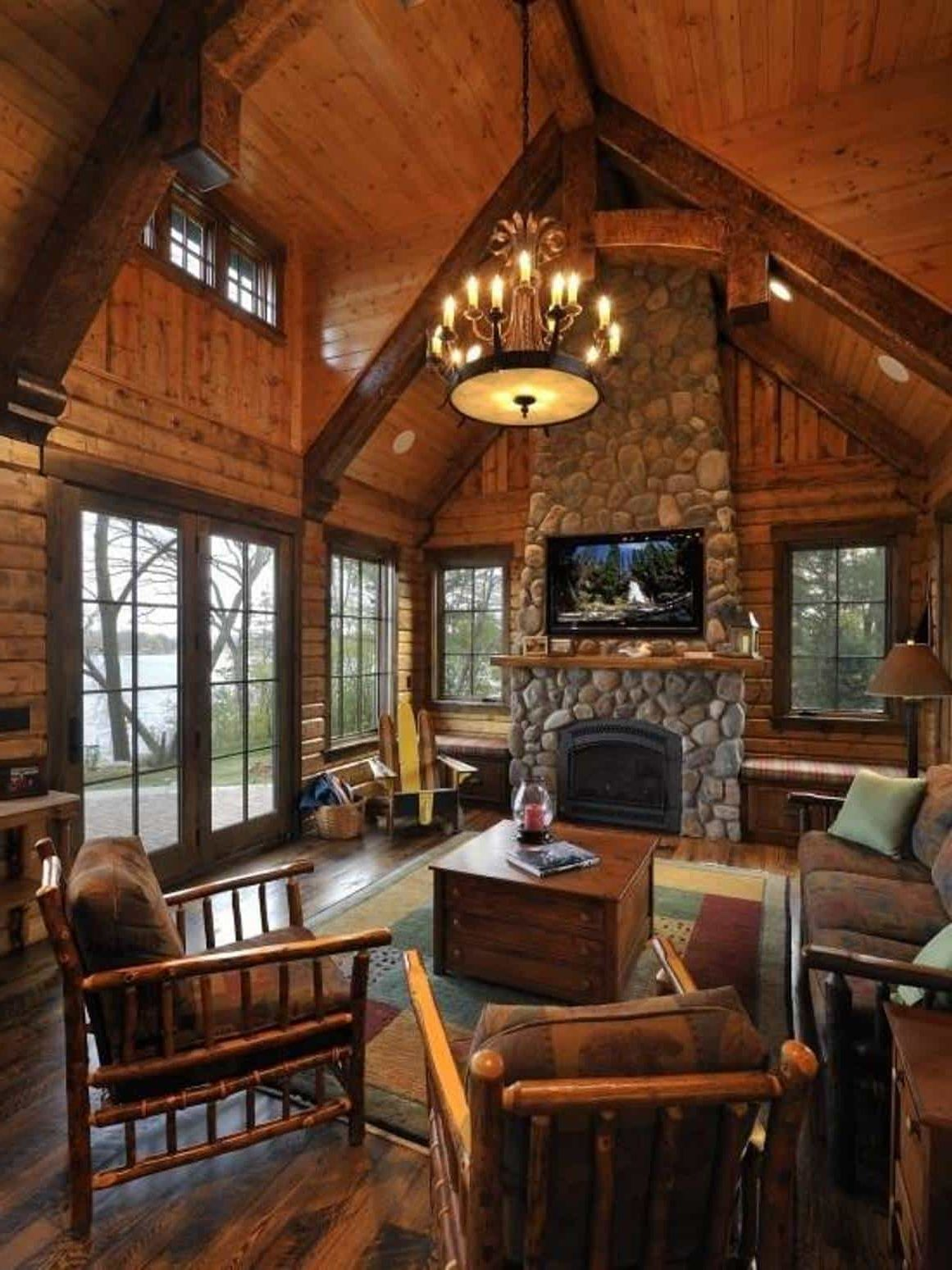 Log Cabin Decorating Ideas Decor Around The World In 2020 Rustic Cabin Cabin Style Rustic House #rustic #look #for #living #room