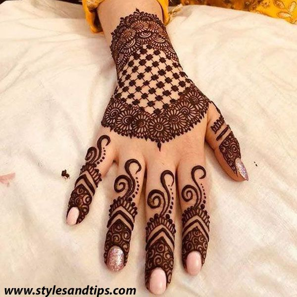 Unique And Easy Mehndi Design Latest Images For Back Hands